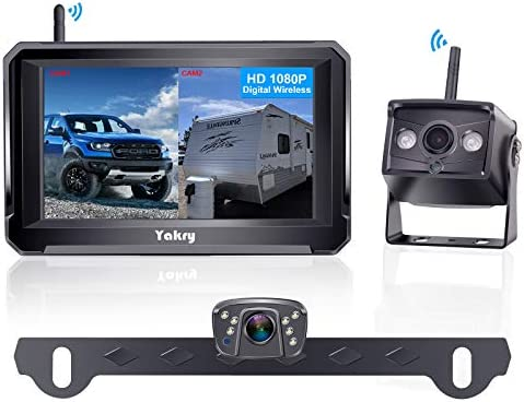 Yakry Y33 HD 1080P Digital Wireless Dual Backup Camera Hitch Rear View Camera for RVs Trailers product image