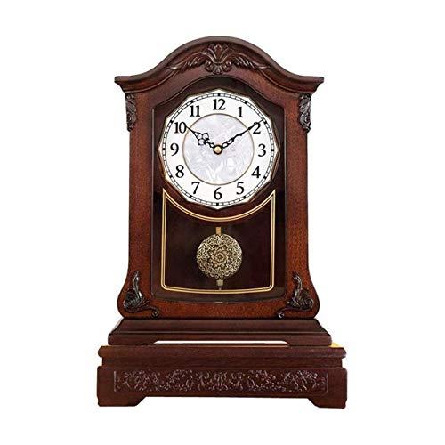ZJZ Relojes de repisa de Madera, Reloj de Mesa de péndulo p