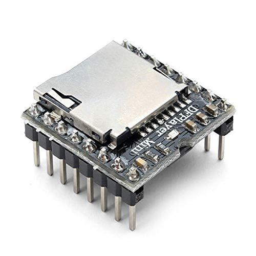 Dlb0109 3 STÜCKE DFPlayer Miniskirt MP3 Player Modul MP3 Voice Audio Decoder Board Ermutigung TF-Karte U-Disk-IO / serielle Anschluss / AD für Arduino - Produkte, die mit offiziellen Arduino-Boards ar