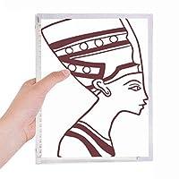 エジプトの抽象的なトーテムの側面の肖像画のフレスコ画 硬質プラスチックルーズリーフノートノート
