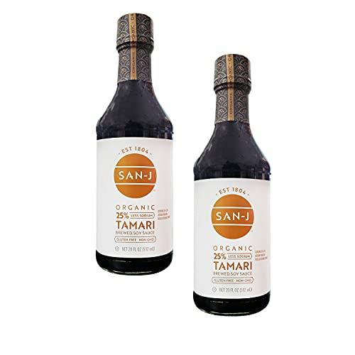 San-J Organic Reduced Sodium Gluten Free Tamari Soy Sauce -- 20 fl oz - 2 pc