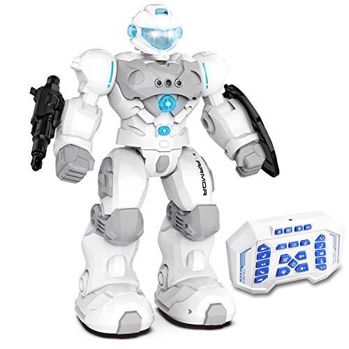 Kuman Robot Telecomandato Per Bambini, Robot Robot Intelligente RC RC Robot Giocattolo Programmabile Spara Obiettivi Camminare Cantare Ballare Per Regalo Di Ragazze Per Ragazzi