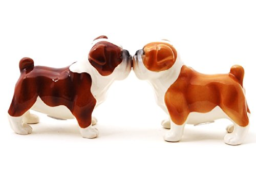 Pacific Trading Bulldogs Attractives Salt Pepper Shaker Made of Ceramic