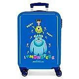 Disney Boo! Maleta de Cabina Azul 38x55x20 cms Rígida ABS Cierre de combinación Lateral 34L 2,7 kgs 4 Ruedas Dobles...