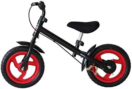 TQJ Cochecito de Bebe Ligero Balance Bike Lightweight Children's Balance Car 2-3-6 años con la Diapositiva de Freno Coche de Juguete para bebé/niño