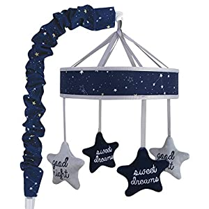 crib bedding and baby bedding wendy bellissimo baby mobile crib mobile musical mobile - stars mobile in navy and grey