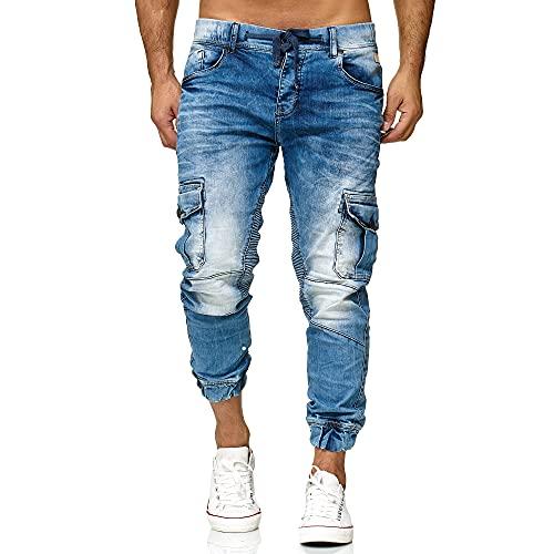 Redbridge Vaqueros Jeans para Hombre Pantalón Estilo Chàndal Denim Algodón Azul W30 L32