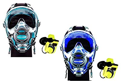 OCEAN REEF Buddy Communication Combo - G. Divers Full Face Scuba Diving Mask with GSM Diver Communication Units (2 Masks 2 Comm Units) (Cobalt M/L + Emerald S/M)