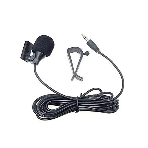 Luoshan ZJ015MR estéreo de 3,5 mm Recta Pasta de tapón de navegación de DVD del Coche de un micrófono Exterior, Longitud: 3m