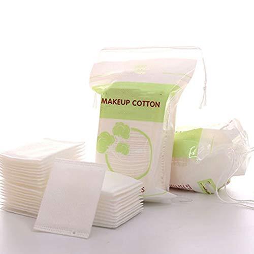 100 Piezas De Algodón Limpieza De Ratón Orgánico Natural Wipe Cojín De Maquillaje Quitaesmalte Toallitas Eco a La Limpieza del Algodón