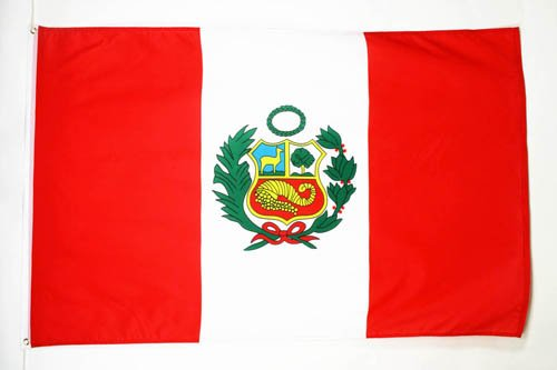 AZ FLAG Flagge Peru 90x60cm - Peruanische Fahne 60 x 90 cm - flaggen Top Qualität