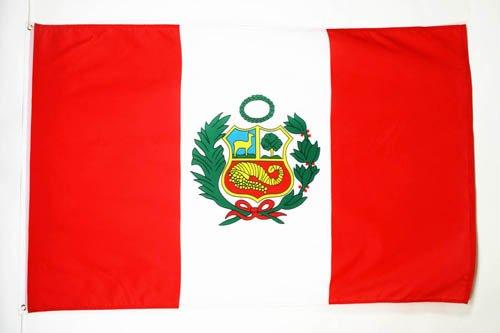 AZ FLAG Flagge Peru 150x90cm - Peruanische Fahne 90 x 150 cm - flaggen Top Qualität