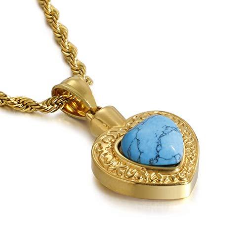 KnBoB Edelstahl Halskette für Damen H Zirkonia Herzform Anhänger