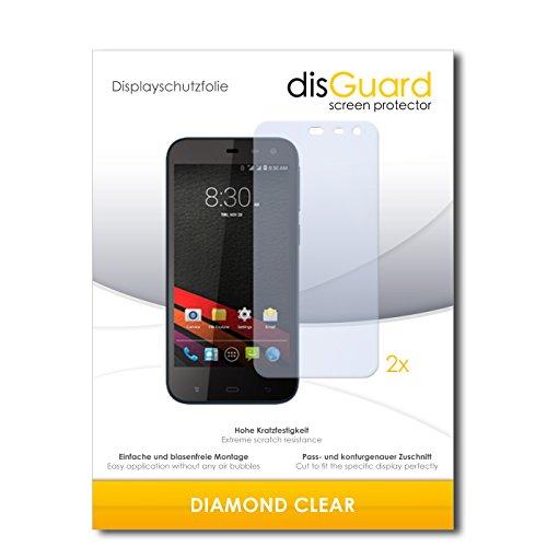 disGuard 2 x Bildschirmschutzfolie Phicomm Clue M Schutzfolie Folie DiamondClear unsichtbar