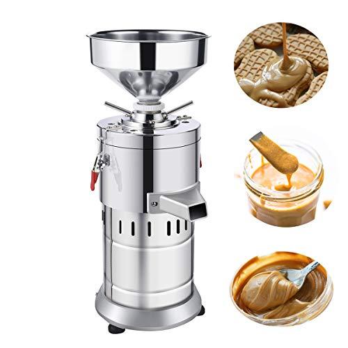 1100W Commercial Peanut Butter Grinder Machine 15kg/h Output Electric Peanut Sesame Butter Maker (Upgrade 110V)