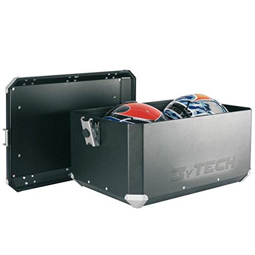 MyTech - Kit coffre 55 litres noir avec plaque de fixation pour - BMW R 1150 GS