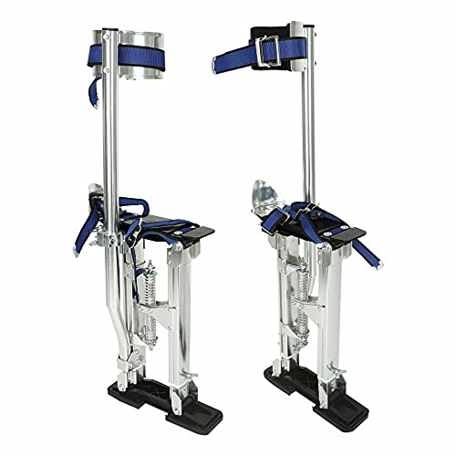 VOWAGH 15'-23' Aluminum Drywall Stilts Tool Adjustable Lifts Tool for Taping Painting Painter Sliver