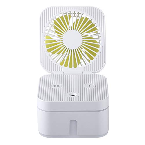 YL-WLJ Humidificador Facial USB Mute Ventilador pequeño Mini Mesa Ventilador eléctrico portátil,White