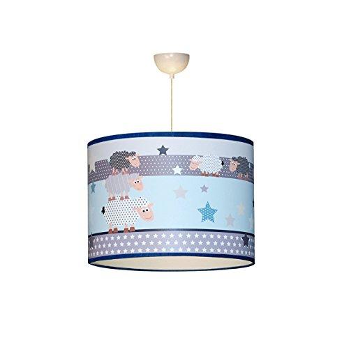 Luz de techo infantil 'La familia de las ovejas' azul