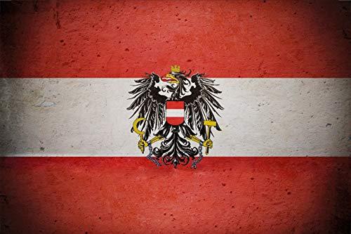 FS land vlag Oostenrijk nationale vlag metalen bord bordje gewelfd Metal Sign 20 x 30 cm