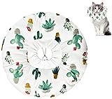 DMFSHI Collar de Recuperación para Mascotas, Collar Protector para Gatos, Collar de Recuperación para Gatos Collar Suave Ajustable para Gatos Anti-mordida Después de la Cirugía (Talla L)