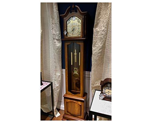 RELOJESDECO Reloj de pie, Reloj de salón, Reloj de antesala Cuarzo, Reloj de carillón Westminster, Reloj pie con maquinaria Cuarzo 2 melodias, Color Madera Precioso. 205x46x26cm