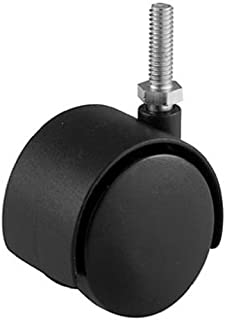 Shepherd Hardware 9733 2-Inch Office Chair Caster, Twin Wheel, 5/16-Inch Threaded Stem Diameter, 75-lb Load Capacity