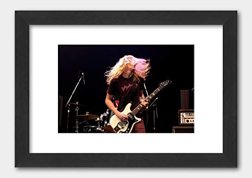 The Hellacopters - Robert Dahlqvist Livid Festival 2003 Poster 2 Black Frame 29.7x42cm (A3) White