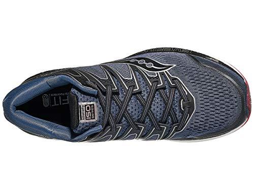 Saucony Men's Hurricane ISO 5 Running Shoe, Grey/Black, 7 W US