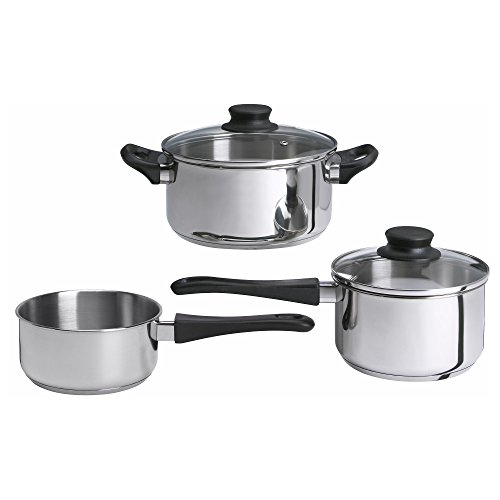 Ikea Annons 5-Piece Cooking Pot Set with Glass Lid Induction Stainless...