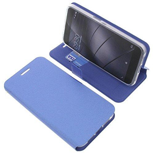 foto-kontor Tasche für Gigaset Me Pro Book Style blau Schutz Hülle Buch