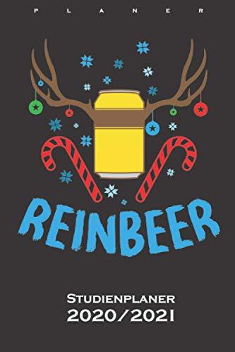 Bier und Rentieren ugly Weihnachten Reinbeer Studienplaner 2020/21: Semesterplaner (Studentenkalender) für alle die das Fest der Liebe mögen