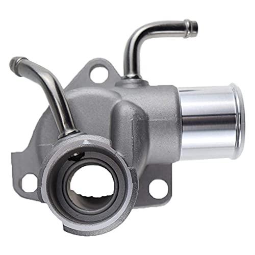 XINLIN Ruderude 1633154111 Radiador de llenado Cuello de refrigeración Termostato Cubierta de la Carcasa/Salida de Agua Ajuste para Toyota HIACE 16331-54111 (Color : Silver)