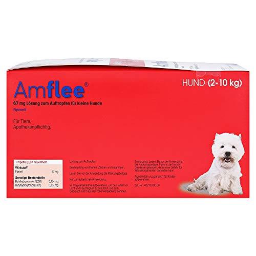 AMFLEE 67 mg Spot-on Lsg.f.kleine Hunde 2-10kg 30 St Lösung