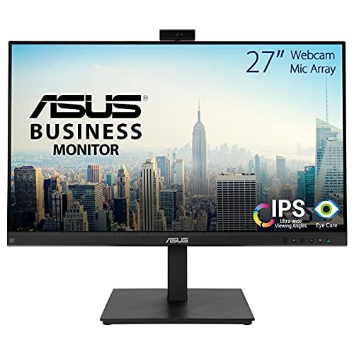 ASUS BE279QSK - Monitor para Videoconferencias 27 Pulgadas, Full HD, IPS, Cámara Web Full HD, Altavoces Estéreo, Antiparpadeo, Luz Azul de Baja Intensidad, Puede Montarse en la Pared