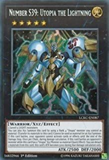 Yu-Gi-Oh! Number S39: Utopia The Lightning - LCKC-EN087 - Secret Rare - 1st Edition - Legendary Collection Kaiba Mega Pack...
