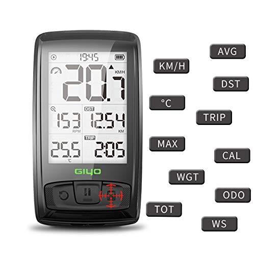 YMYGCC Bicicleta Cuentakilometros Tabla de códigos de Bicicletas Bluetooth Wireless Road velocímetro...