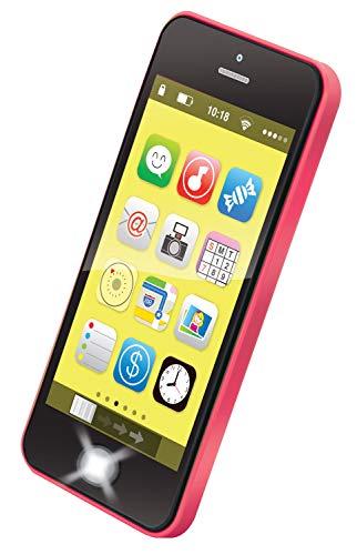 Bieco Lernspaß Kinder Smartphone | Kinder Handy mit 40 Sounds & Blinkenden Lichtern | Babyspielzeug ab 6 Monate | Baby Musik Spielzeug | Kinder Handy Spielzeug | Spielzeug Handy Kinder | Baby Spiel