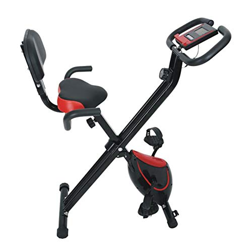 QZAA-Indoor Heimtrainer Fahrrad Spinning Bike LCD Display Bauchmuskeltrainingsgerät Geräuscharmes Falten Fahrradwiderstandseinstellung Aerobic Trainingstrainer