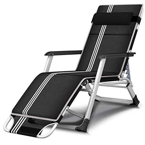 KaiKai Silla Plegable Plegable Ajustable del Personal de Oficina Silla de la Almuerzo Silla Plegable portátil Cama reclinable Silla de Camping Balcón Jardín Hamaca