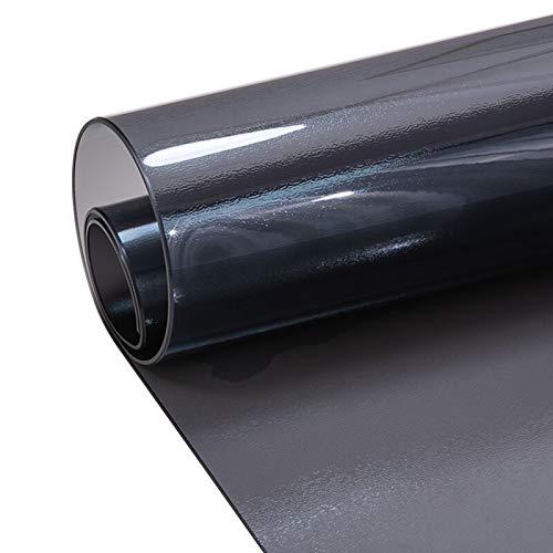 FXPCYGZ Tischdecke Transparent PVC-Tischschutz Aus Kunststoff, Abwaschbar, Stark, Wasserdicht,1.5 Mm, FüR Esstisch Und Schreibtisch, Matte Texture Black(90x140cm/35.43x55.12in)