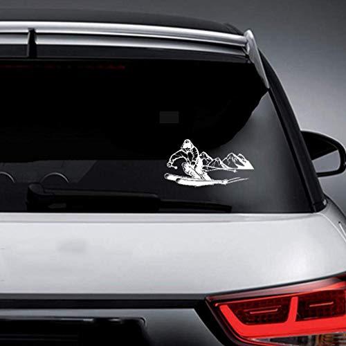 Aufkleber Sticker Auto 10Cmx18.9Cm tapferer Ski-Abenteuer-Aufkleber-dekorativer Auto-Aufkleber für Auto-Laptop-Fenster-Aufkleber