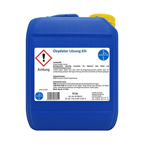 Oxydator Lösung 6% I Food Grade I 5 Liter I Aquarien und Teiche I stabilisiert I Herrlan I Made in Germany