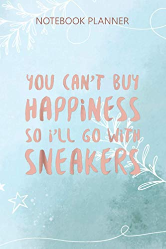 Notebook Planner Sneaker Happiness Sneakers Gift for Sneakerhead: To Do List, Over 100 Pages, Wedding, Business, Work List, 6x9 inch, Budget, Simple