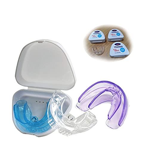Protectores para molienda dental, TPE Invisible 4D Braces dentales, para moler dientes, protector antimolienda de encías nocturnas, detiene el bruxismo y elimina los dientes de apriete.