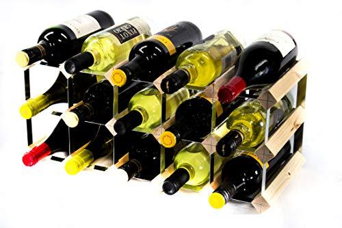 Madera de pino 15 botella clásico y...