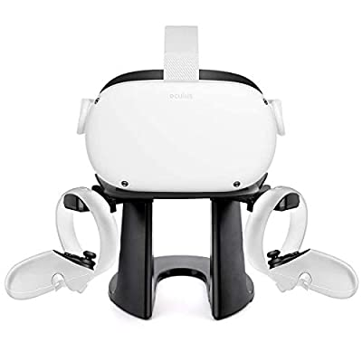 VR Headset Stand - Caogor VR Stand Virtual Reality Headset and Controllers Holder, VR Headset Holder and Controller Mount Station for Oculus Quest, Quest 2, Rift or Rift S Headset and Touch Controller