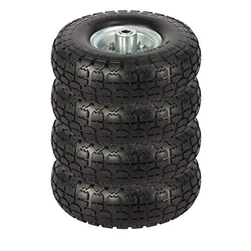 Yaheetech Solid Wheelbarrow Tires Sack Truck Cart Wheel 5/8-inch Bearings for Wagon/Lawn/Garden/Beach/Trolley 4/8/12 Pack 10-inch (8)