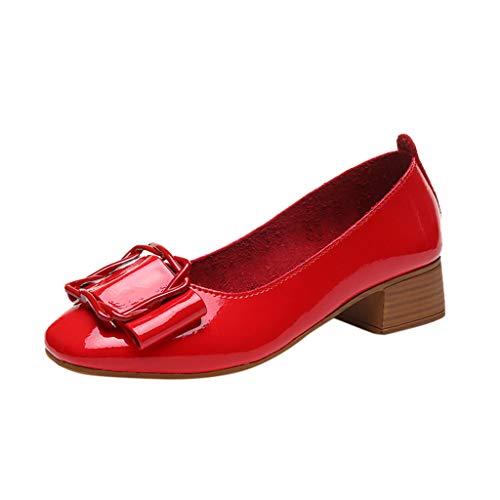 Zapatos Vestir Tacón Ancho Grueso Medio Mujer Invierno