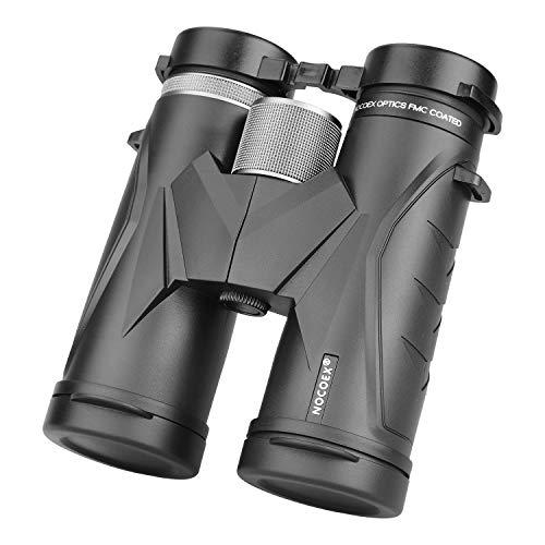 NOCOEX 10 x 42 para Adultos, prismáticos Profesionales HD compactos para observación de Aves, Viajes, observación de Estrellas, Camping, conciertos, visitas turísticas Verde